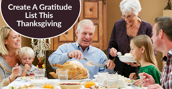 Create A Gratitude List This Thanksgiving